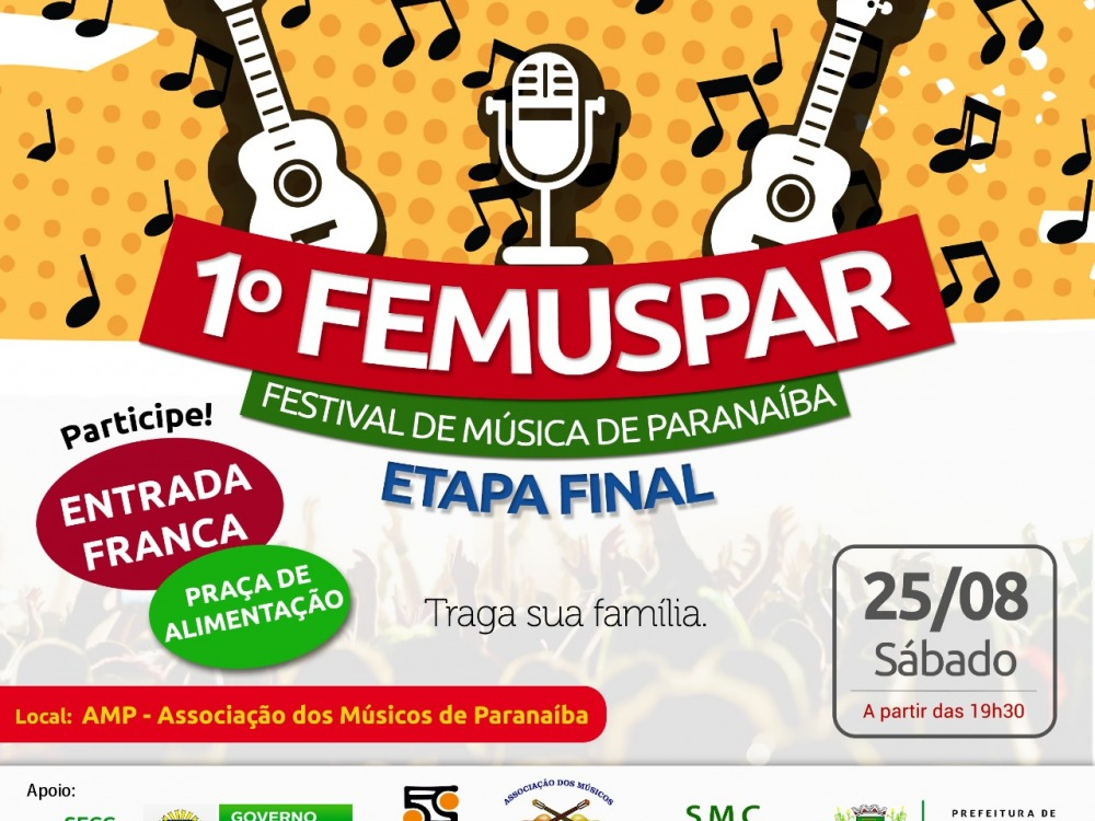 Final do 1º FEMUSPAR acontece neste sábado